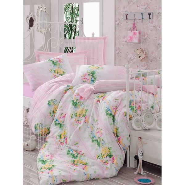 Różowa pościel na łóżko jednoosobowe Love Colors Sarah, 160 x 220 cm