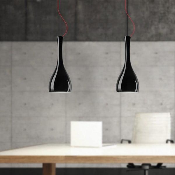 Czarna matowa lampa wisząca Sotto Luce Itteki