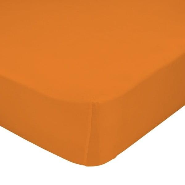 Prześcieradło z gumką Little W, 90x200 cm, pomarańczowe