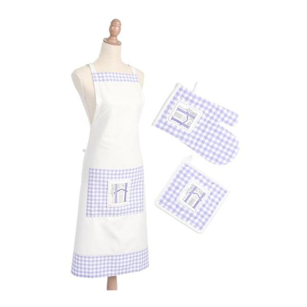 Komplet: fartuch, rękawica, podkładka pod garnek Lavender Cott