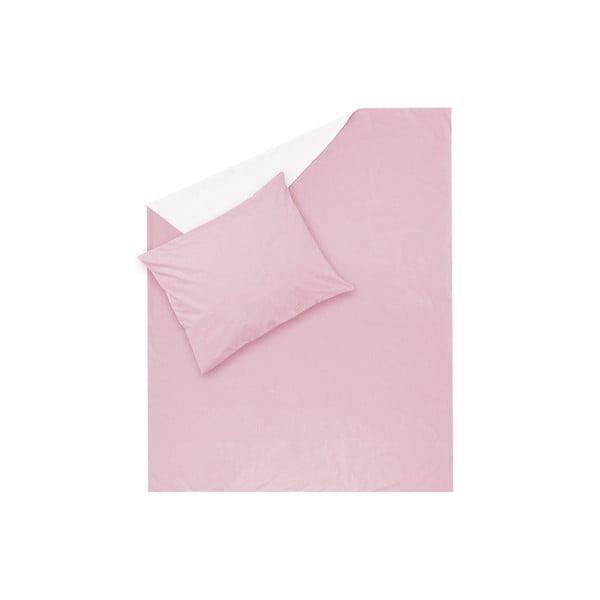 Różowa pościel Hawke&Thorn Parker Simple, 150 x 200 cm + poduszka 50 x 60 cm