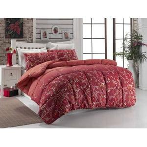 Narzuta pikowana na łóżko dwuosobowe Sultan Red, 195x215 cm