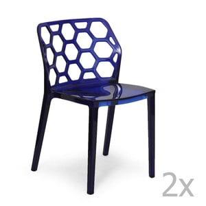 Zestaw 2   niebieskich krzeseł Garageeight Honeycomb