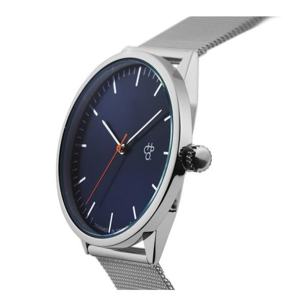 Zegarek w srebrnej barwie z niebieskiem cyferblatem CHPO Nando