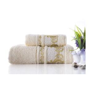 Zestaw 2 ręczników Antik Gold Cream, 70x140 i 50x90 cm