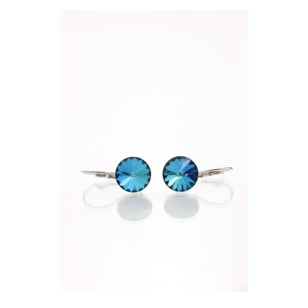 Niebieskie kolczyki z kryształami Swarovskiego Yasmine Longie