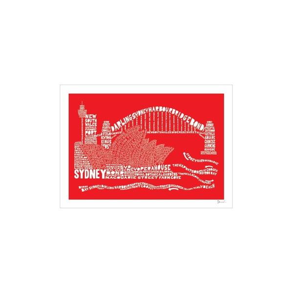 Plakat Sydney Red&White, 50x70 cm