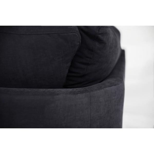 Sofa narożna Jalouse Maison Irina, lewy róg, czarna