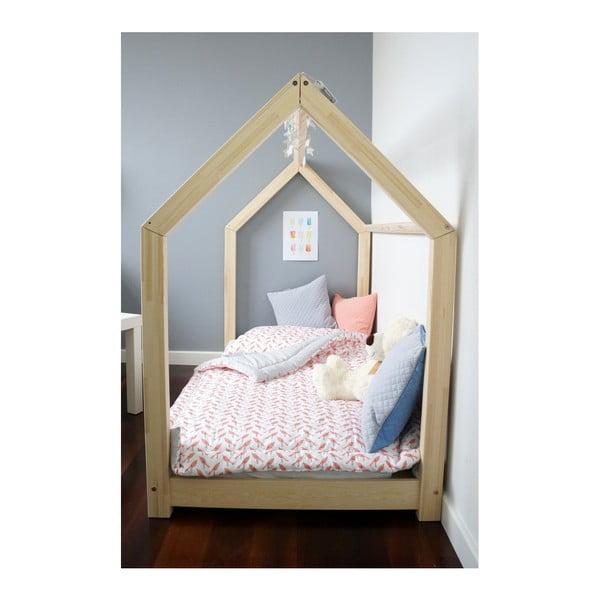 Łóżko dziecięce z wysokimi nóżkami Benlemi Tery, 80 x 160 cm, wysokość nóżek 20 cm