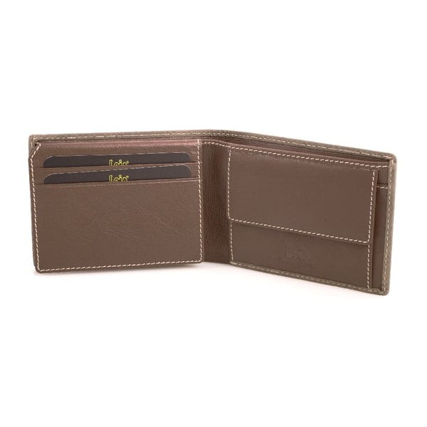 Skórzany portfel Lois Brown, 11x8 cm