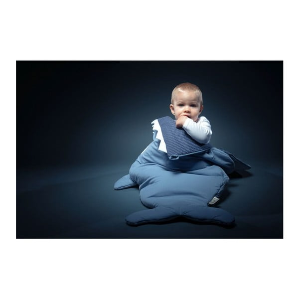 Dziecięcy śpiworek Baby Bites Blue Fish with Polka Dots