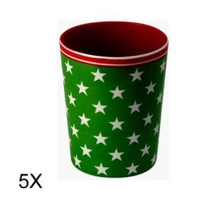 Zestaw 5 kubków Star Green