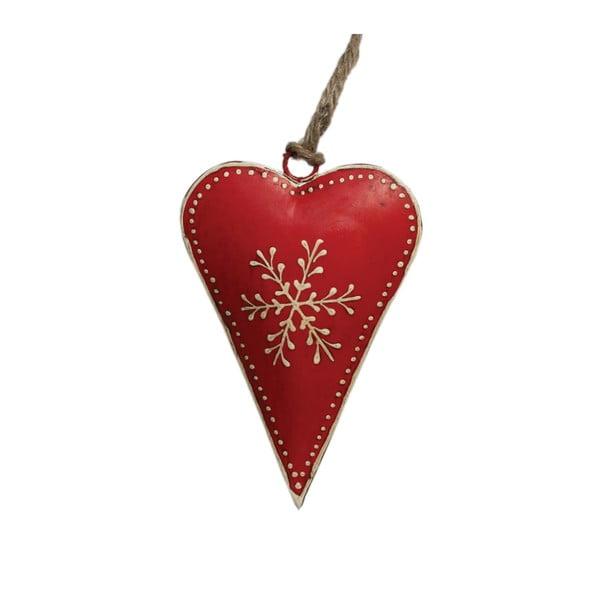 Czerwona świąteczna dekoracja Rex London Snowflake
