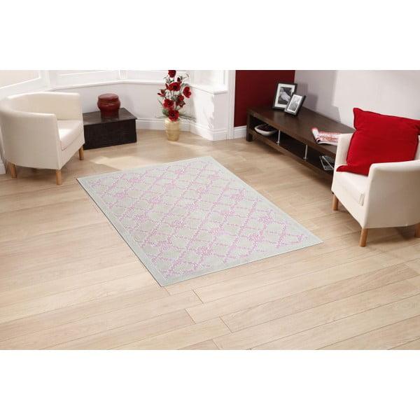 Jasnoróżowy dywan bawełniany Floorist Lerato , 100x200cm