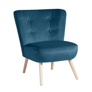 Niebieski fotel Max Winzer Neele Velvet
