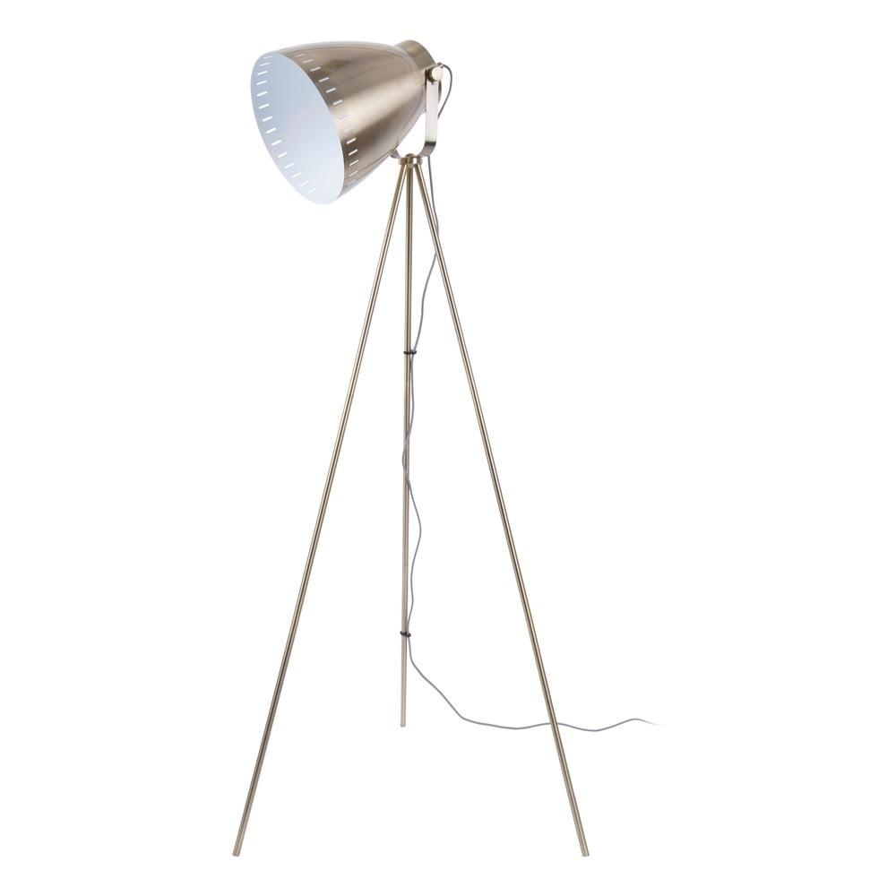 Metalowa lampa stojąca w kolorze brązu Leitmotic Luxury