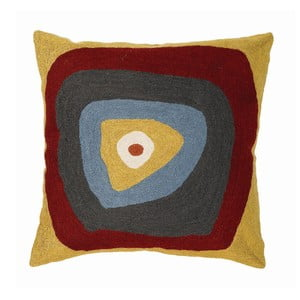 Poszewka na poduszkę Mustard Target, 45x45 cm