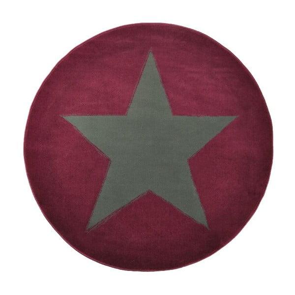 Fioletowy dywan dziecięcy Hanse Home Gwiazda, ⌀140cm