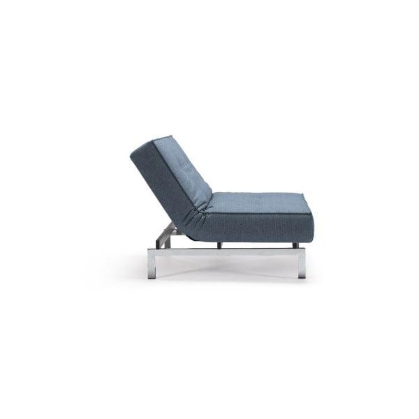 Jasnoniebieski rozkładany fotel z metalową konstrukcją Innovation Splitback Mixed Dance Light Blue