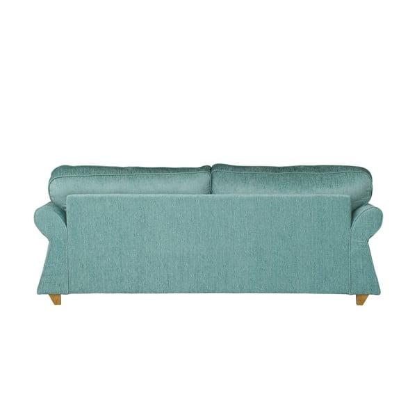 Jasnoniebieska   sofa trzyosobowa Wintech Toty Carlron