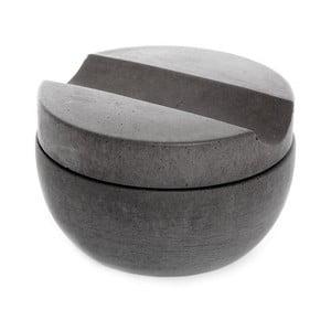 Ciemnoszara betonowa miska do golenia z mydłem cedrowym Iris Hantverk