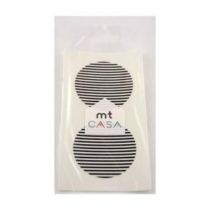 Zestaw 10 czarno-białych naklejek washi MT Masking Tape Casa