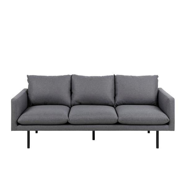 Ciemnoszara 3-osobowa sofa Actona Carolina