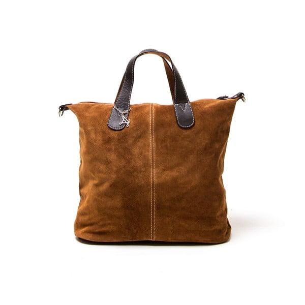 Skórzana torebka Luisa Vannini 895 Cognac