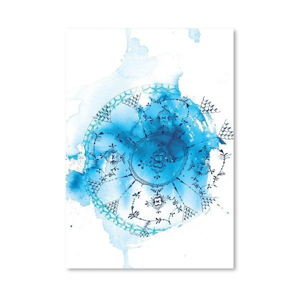 Plakat Blue Plate Wash, 30x42 cm