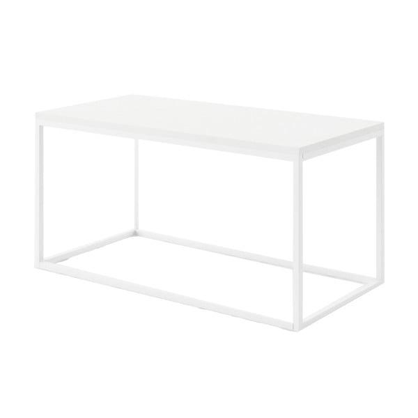 Biały stolik z marmuru z białą konstrukcją Absynth Noi Brazil, duży