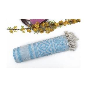 Jasnoniebieski ręcznik kąpielowy hammam Paisley