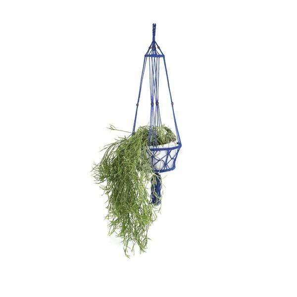 Wisząca osłonka na doniczkę Macrame Azul, 25 cm