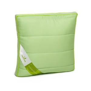 Zielona poduszka z włóknami bambusowymi Nature Green Future, 37x37cm