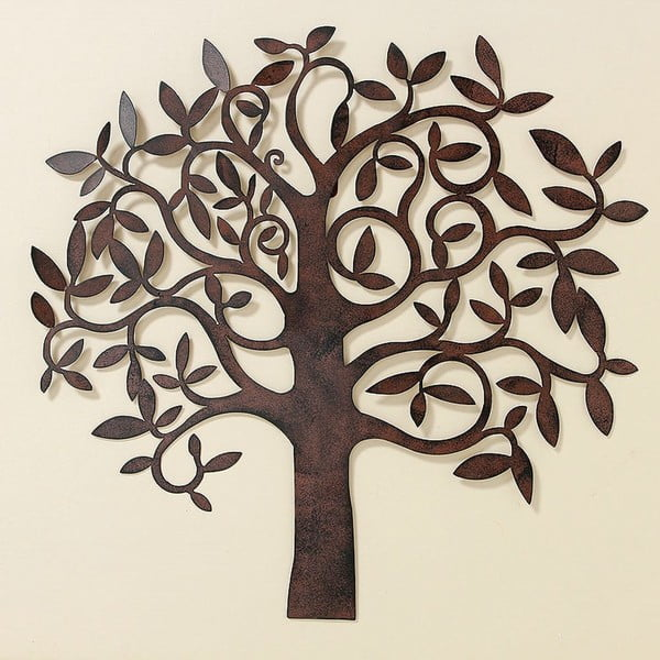 Dekoracja naścienna Tree Metal