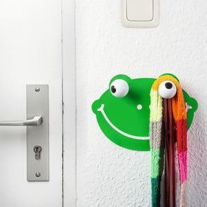 Haczyk dekoracyjny z naklejką na ściane Donkey Creative Lab Hooklys Froggy