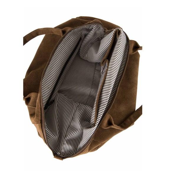 Skórzana torebka Fly Violet Midi, brązowa