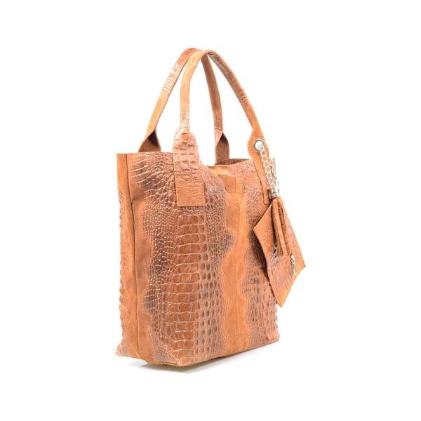 Skórzana torebka Marissa, cognac