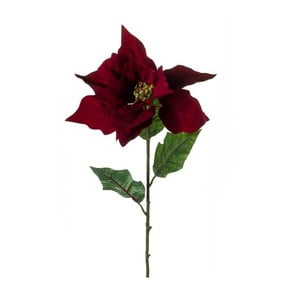 Sztuczny kwiat Gwiazda betlejemska, karminowa