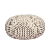 Kremowy puf dziergany LABEL51 Knitted XL