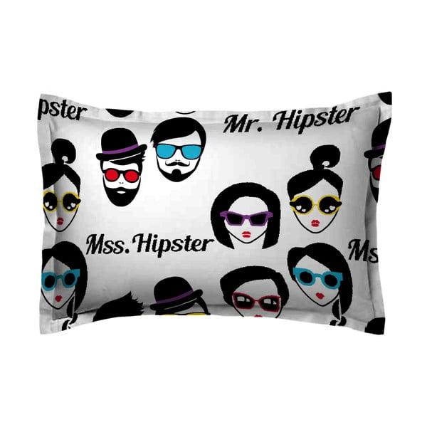 Poszewka na poduszkę Hipster Face, 50x70 cm