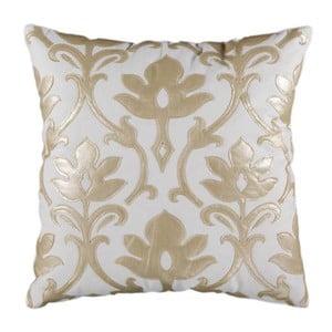 Poszewka na poduszkę, biała z kremową fakturą