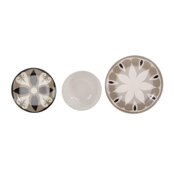 Komplet 18 talerzy ceramicznych Graal Beige