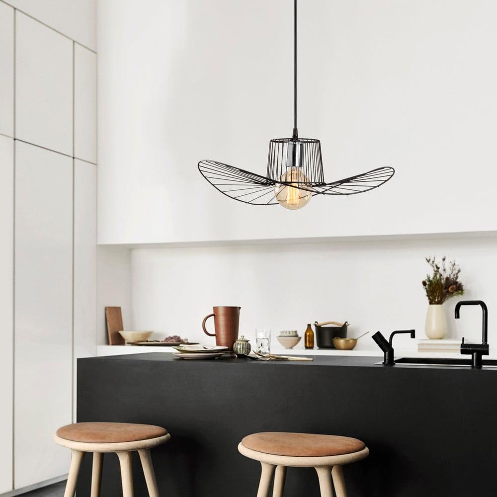 Czarna lampa wisząca Opviq lights Tel Hat, ø 50 cm