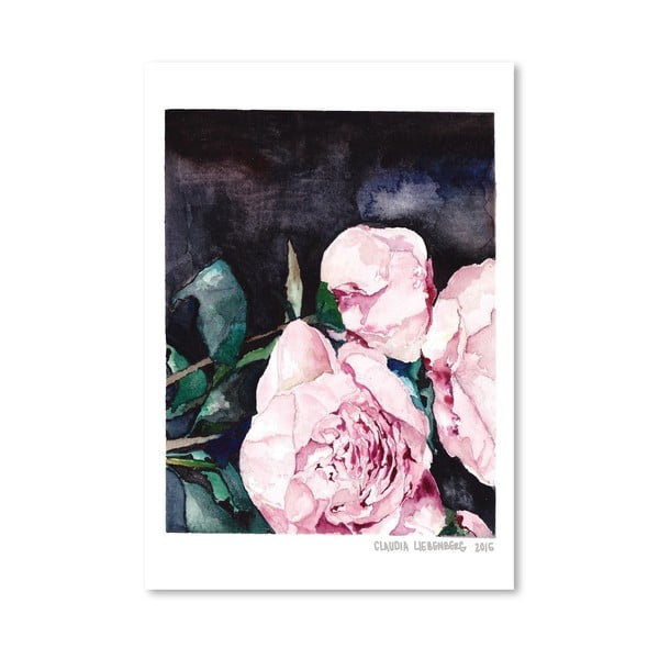 Plakat Blooms on Black I, 30x42 cm