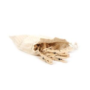 Drewniane klamerki w woreczku Iris Hantverk