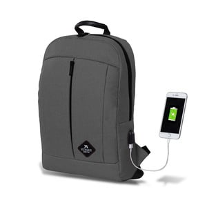 Šedý batoh s USB portem My Valice GALAXY Smart Bag