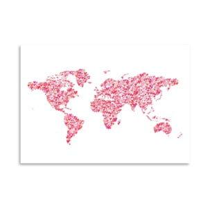 Plakat Americanflat World Blush, 30x42 cm