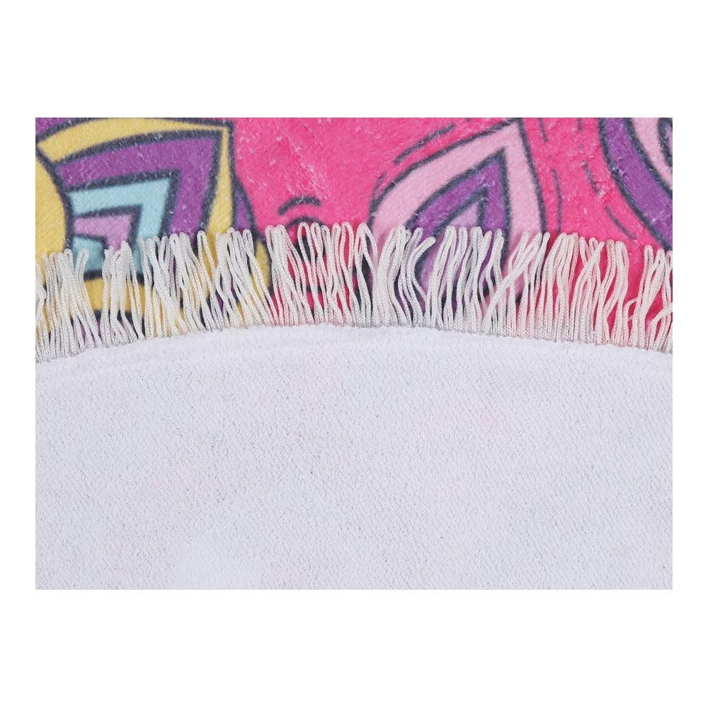Kolorowy ręcznik plażowy ze 100% bawełny Colorado, ⌀ 150 cm