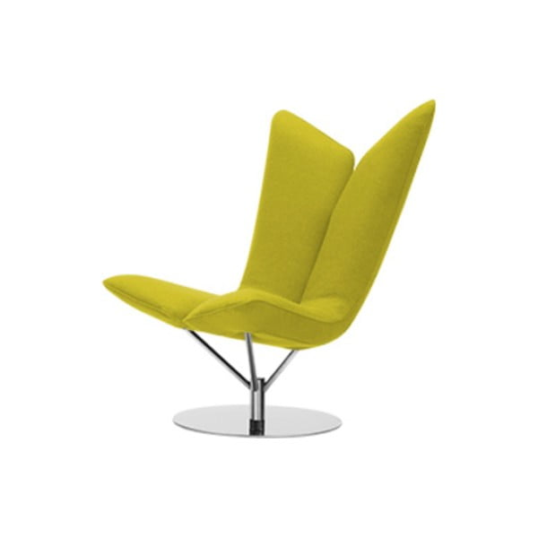 Żółty fotel Softline Angel Felt Melange Yellow