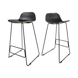 Czarne krzesło barowe Canett Paris